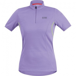 gore bike wear maillot manches courtes femmes element violet neon