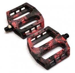 demolition pedales trooper mix plastique noir rouge