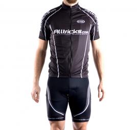 alltricks by northwave maillot manches courtes sport noir blanc