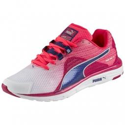 puma chaussures femme faas 500 v4 rose bleu