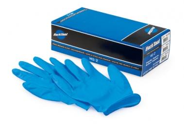 park tool gants d atelier en nitrile pour mecaniciens boite de 100 taille m mg 2