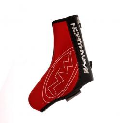 northwave paire de couvres chaussures fighter rouge noir