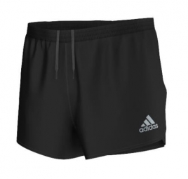 adidas short homme run split noir