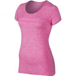 nike t shirt dri fit knit rose