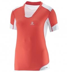 salomon 2015 t shirt exo pro corail blanc femme
