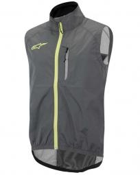 alpinestars veste coupe vent sans manches descender gris jaune