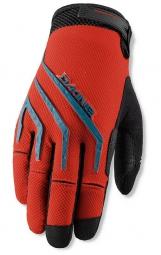 dakine paire de gants traverse rouge