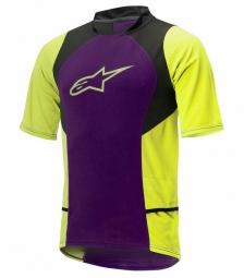 alpinestars maillot manches courtes drop 2 violet jaune