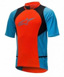 alpinestars maillot manches courtes drop 2 orange bleu