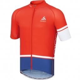 odlo 2015 maillot manches courtes tourmalet paprika indigo
