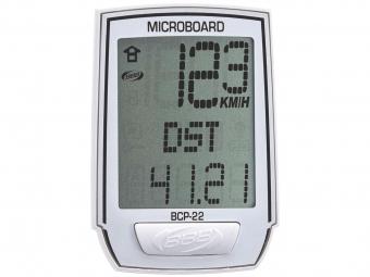 bbb compteur microboard 13 fonctions filaire blanc