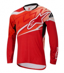 alpinestars maillot manches longues sight rouge