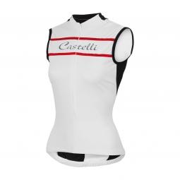 castelli 2015 maillot sans manches promessa blanc femme