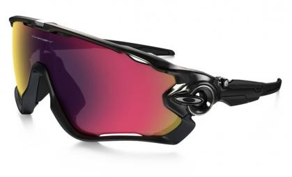 oakley paire de lunettes jawbreaker polarized black red iridium polarized ref oo9290