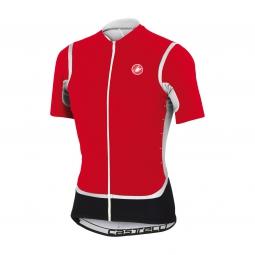 castelli 2015 maillot manches courtes raffica fz rouge blanc noir