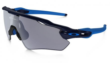 oakley lunettes polarized radar ev path navy grey polarized ref oo9208 06