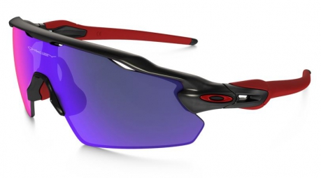 oakley lunettes radar ev pitch black red iridium ref oo9211 02