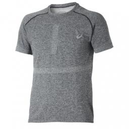 asics maillot seamless gris