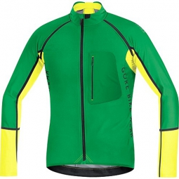 gore bike wear 2015 maillot alp x pro windstopper soft shell zip off vert jaune