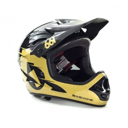 casque integral 661 sixsixone comp noir gold