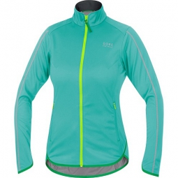 gore bike wear veste femme countdown windstopper soft shell light turquoise jaune