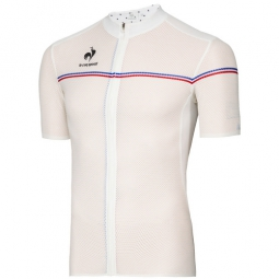 le coq sportif maillot manches courtes ultra light blanc
