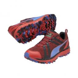 puma chaussures trail homme faas 500 tr v2 rouge bleu