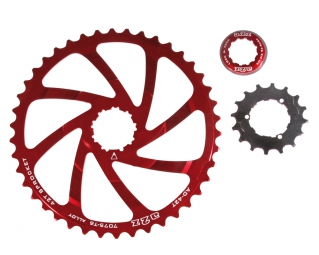 a2z kit de conversion pour cassette shimano 10 vitesses rouge