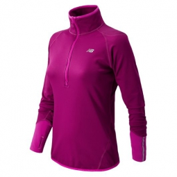 new balance t shirt ml 1 2 zip femme violet