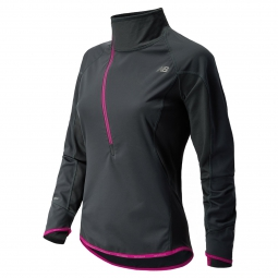 new balance veste 1 2 zip windblocker noir violet femme