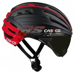 casco 2015 casque speedairo rs avec visiere vautron noir mat rouge