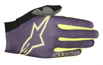 alpinestars paire de gants aero violet jaune