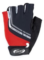 bbb paire de gants courts ete gel liner noir rouge