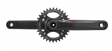 sram 2016 pedalier gx 1400 bb30 boitier non inclus 32 dents 11v rouge