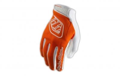 troy lee designs gants enfant gp air orange blanc