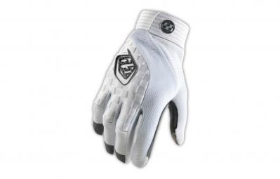 troy lee designs paire de gants longs enfant sprint blanc