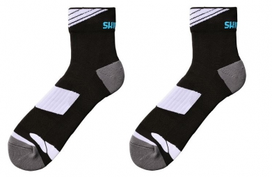 shimano paire de chaussettes performance noir blanc
