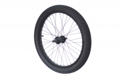 rock bmx roue arriere loaded lhd pneu duo svs 2 25 noir
