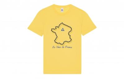 le coq sportif t shirt tour de france n 2 jaune