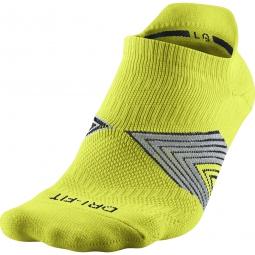 nike chaussettes running dri fit cushioning jaune