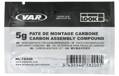 var pate de montage composants en carbone et aluminium sachet 5 g