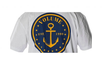 volume t shirt nautical blanc