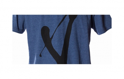 volume t shirt v bleu