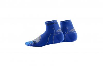 skins paire de chaussettes performance quarter bleu