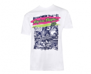 troy lee designs t shirt strocker blanc xxl