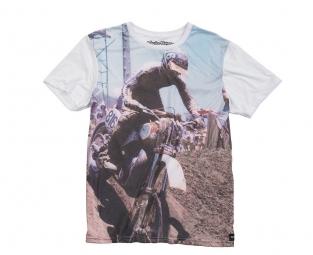 troy lee designs t shirt spectator premium blanc xl