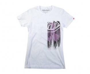 troy lee designs t shirt femme faded blanc xl