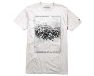 troy lee designs t shirt moto cali blanc l