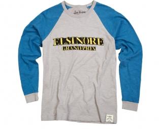 troy lee designs t shirt mcqueen retro blanc bleu
