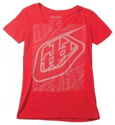 troy lee designs t shirt femme highside slub rouge